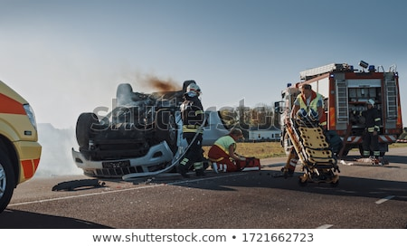 Road traffic accident scene Photo stock © jossdiim
