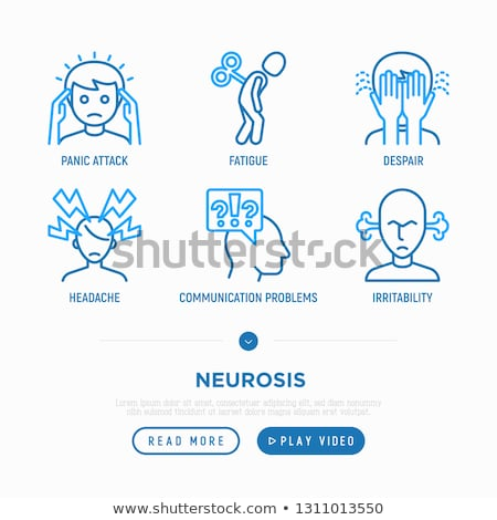 Phobia, Anxiety, Panic Attack, Depression Vector Set Stockfoto © pikepicture