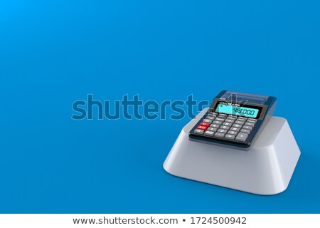 Stock fotó: Budgeting - Message on Blue Keyboard Button. 3D.
