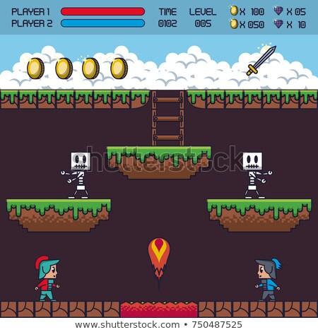 Balloon Pixel Art 8 Bit Arcade Video Game Icon Stock photo © Krisdog