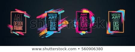 vektör · ayarlamak · beyaz · dekoratif · etiketler · özel - stok fotoğraf © brahmapootra