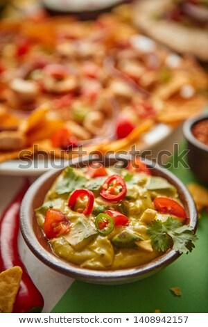 Foto stock: Salsa · tazón · mexicano