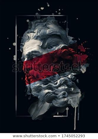 Szín klasszikus kalóz embléma kézzel rajzolt kalózok Stock fotó © netkov1