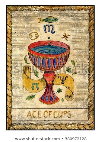 Kolor vintage tarot karty godło Zdjęcia stock © netkov1
