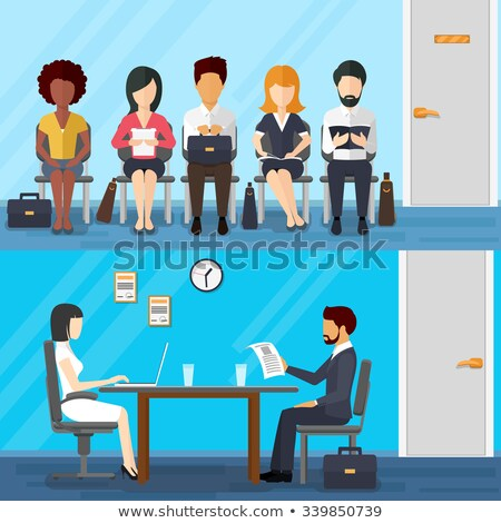 Unemployed Characters Waiting Interview Vector Stock photo © pikepicture