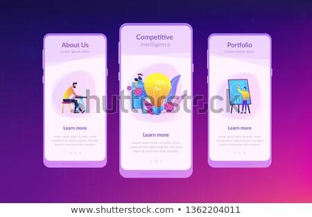 Versenyképes intelligencia app interfész sablon üzletemberek Stock fotó © RAStudio