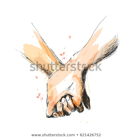 Man and Woman Holding Hands, Relationship Vector Stock photo © robuart