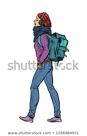 Studio Portrait Of Female Student With Backpack Stock photo © monkey_business