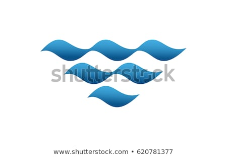 water wave logo design template vector isolated stock photo © haris99