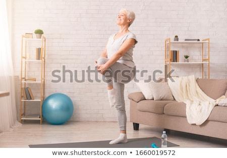 nina · mujer · yoga · trabajo · deporte · cuerpo - foto stock © netkov1