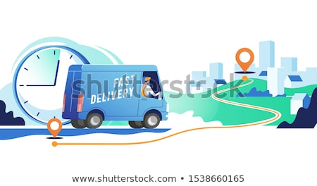 Delivery point concept vector illustration Stock photo © RAStudio