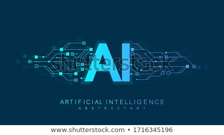 Blockchain Artificial Intelligence Vector Icon Stock photo © pikepicture