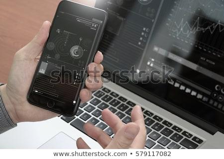 Winkelen website app ontwikkelaars klanten online winkelen Stockfoto © robuart
