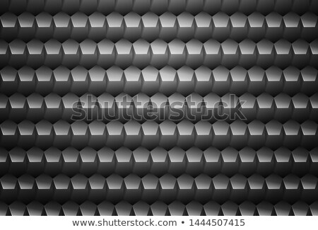Vector metal grey embossed pattern pentagon plastic grid background. Technology pentagon shape cell  Stock photo © Iaroslava