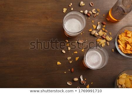 Сток-фото: Draft Beer And Pistachio Nuts