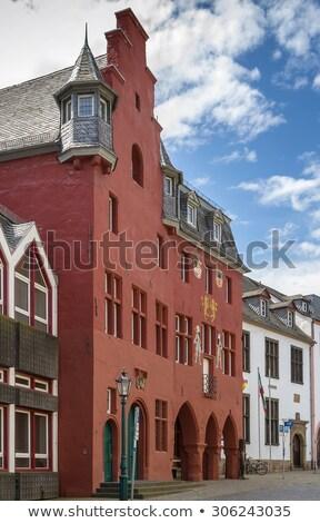 ストックフォト: 町役場 · 悪い · ドイツ · 赤 · 歴史的 · センター