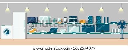 Electronics Appliances Supermarket, Shop Vector Stock photo © robuart