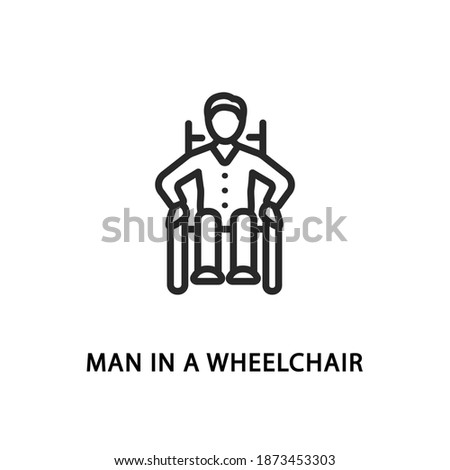 gehandicapten · senior · man · naar - stockfoto © wavebreak_media