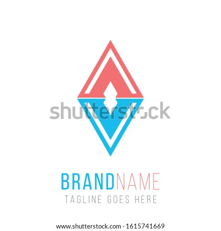 Rhombus abstract vector logo design template. Can represent water and fire Business. Concept for jew Stock photo © kyryloff