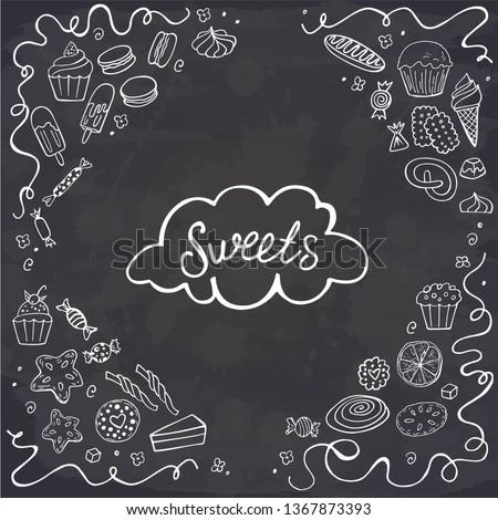 Donuts illustratie snoep frame Stockfoto © balabolka