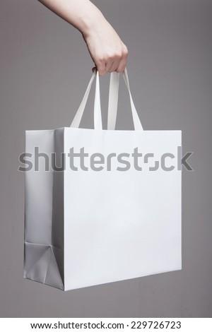 Egy boldog lány papírzacskó illusztráció nő textúra Stock fotó © bluering