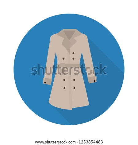 Rain coat. Icon with shadow on a beige background. Clothing vector illustration Stock photo © Imaagio