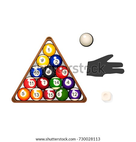 Bilard basen kolekcja trójkąt Zdjęcia stock © ukasz_hampel