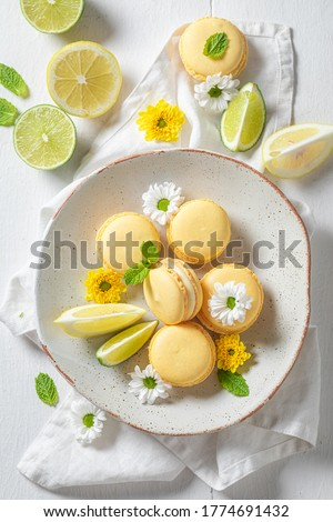 Fresh macaroon confection Stock photo © neirfy