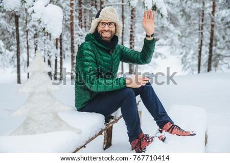 Открытый выстрел улыбаясь мужчины очки Сток-фото © vkstudio