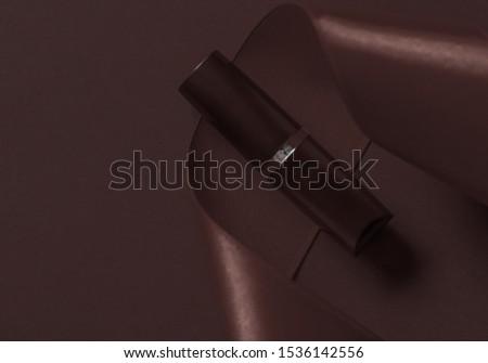 Luxo batom seda fita chocolate férias Foto stock © Anneleven