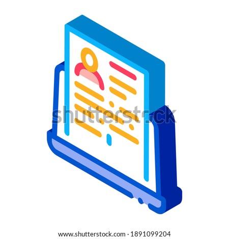 Compleet computer informatie persoon icon vector Stockfoto © pikepicture