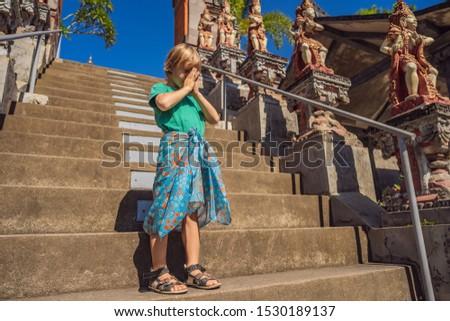 Turist tapınak bali Endonezya yaz Stok fotoğraf © galitskaya