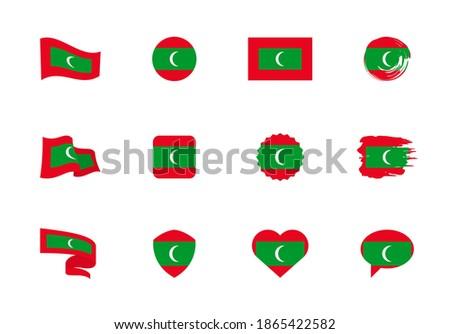 флаг Мальдивы форма сердце любви Сток-фото © butenkow