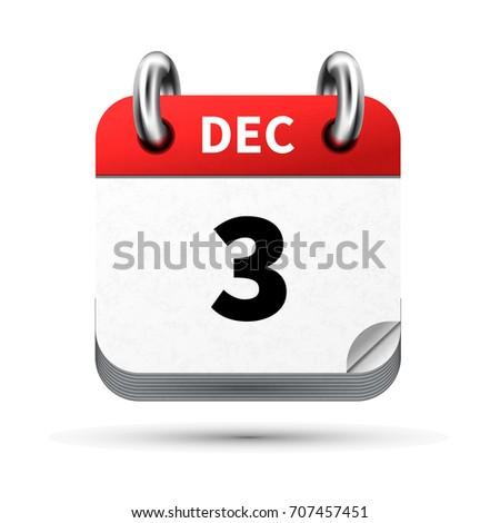 ярко реалистичный икона календаря декабрь дата Сток-фото © evgeny89