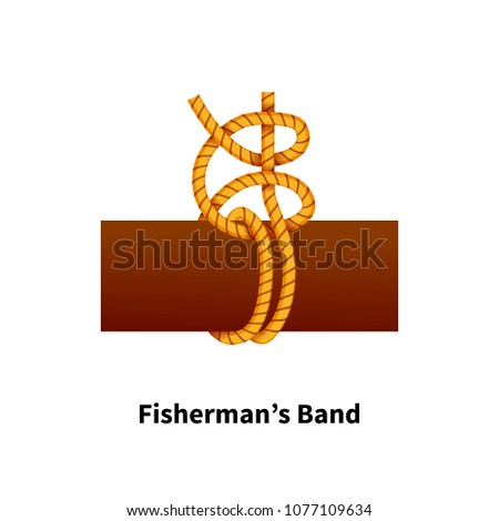 Fishermans Band sea knot. Bright colorful how-to guide on white Stock photo © evgeny89