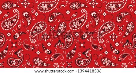 Seamless pattern based on ornament paisley Bandana Print. Vector ornament paisley Bandana Print. Sil Stock photo © sanyal