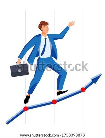 успешный менеджера бизнесмен вверх диаграммы идеальный Сток-фото © orensila