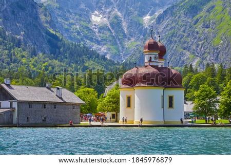 Церкви Германия горные гор озеро архитектура Сток-фото © dmitry_rukhlenko