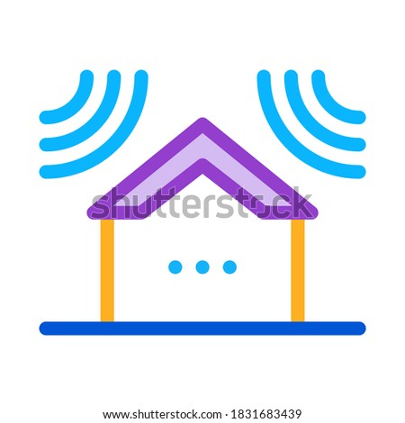 sound acting on residential building icon vector outline illustration Stock photo © pikepicture