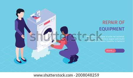 кондиционер охлаждение услугами баннер электрик Сток-фото © RAStudio
