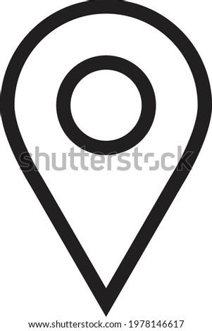 Black Round Geo Location Pin vector icon, flat and outline version. Stock Vector illustration isolat Stock photo © kyryloff