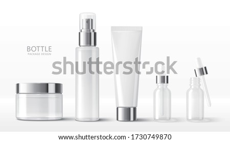 Etykiety kosmetycznych pojemnik butelki produktu Zdjęcia stock © Anneleven