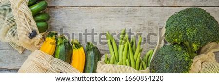 Banner długo format zero odpadów żywności Zdjęcia stock © galitskaya