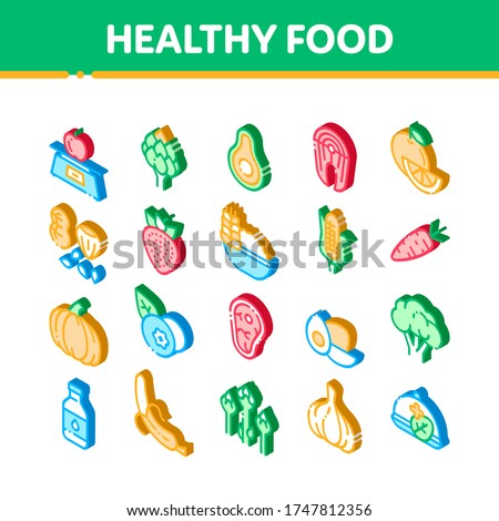 Healthy Food Vegetable Artichoke isometric icon vector illustration Stock photo © pikepicture
