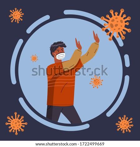 Retrato homem negro mostrar pare gesto vírus Foto stock © robuart