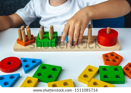 Children are creative and educational. Logic and creative games. Chess, drawing. Flat image Stock photo © robuart