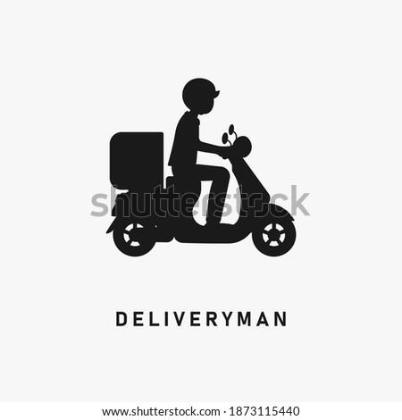 доставки логотип велосипедов человека курьер город Сток-фото © bluering