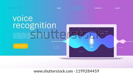 Smart spreker stem assistent app interface Stockfoto © RAStudio