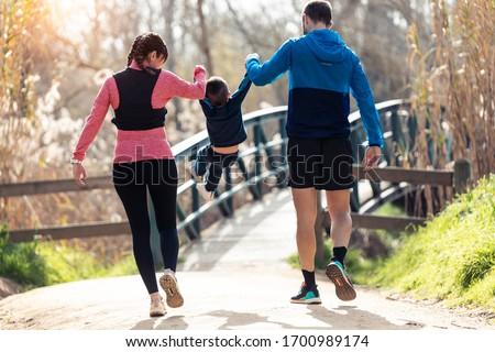walking in a park Stock photo © joyr