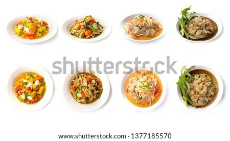 伝統的な · タイ · 辛い · サラダ · 肉 · 野菜 - ストックフォト © moses